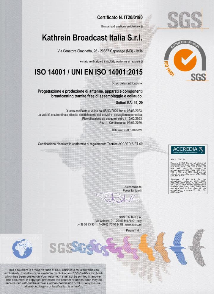 SIRA 14001