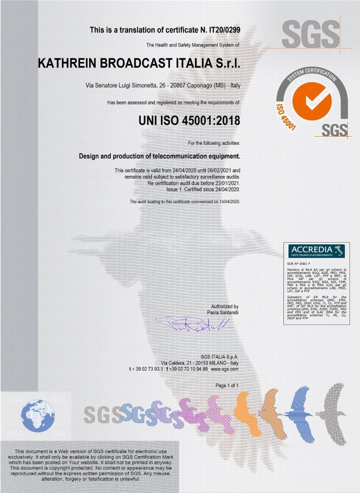 SIRA 45001
